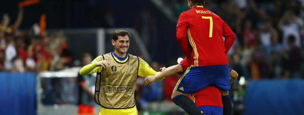Comentarios entre los internacionales del Madrid sobre la ausencia de Casillas