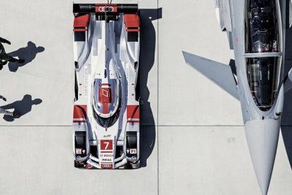 El Audi R18 e-tron y el Eurofighter Typhoon, a prueba