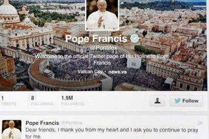Cuatro de cada diez seguidores del Papa en Twitter lo hacen en español