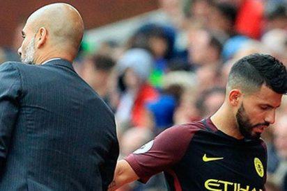 ¡Guardiola vs Agüero! El primer lío interno del técnico en el Manchester City