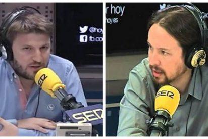 """El chavista Pablo Iglesias a un periodista de la SER: """"Esa pregunta es de estilo 13TV"""""""