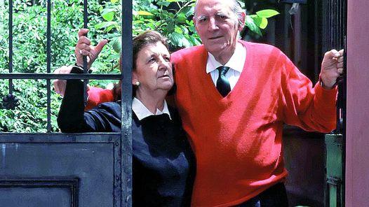 Jerónimo Podestá y su mujer