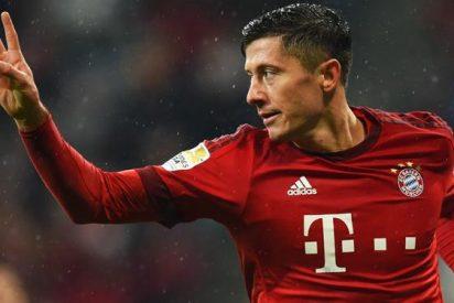 La jugada de Lewandowski provoca la reacción del Bayern de Múnich
