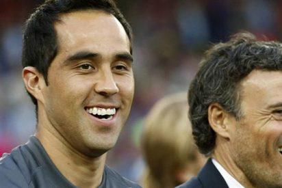 Las explicaciones de Luis Enrique a Claudio Bravo sobre la portería del Barça