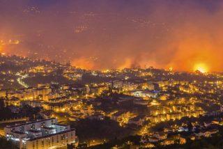 Las llamas amenazan el centro histórico de la capital de la paradisiáca isla de Madeira