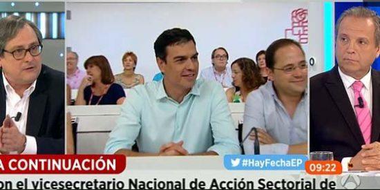 """Marhuenda, al cuello de Carmona por llamar a Rajoy perezoso: """"Tu secretario general se ha pasado 15 días en el chiringuito"""""""