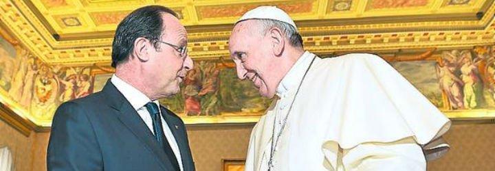 Francisco recibe a Hollande tras el asesinato del sacerdote en Normandía