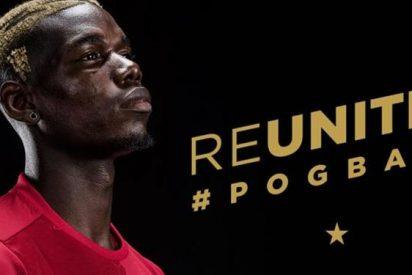 Paul Pogba celebra su fichaje por el United... ¡con un atracón de comida!