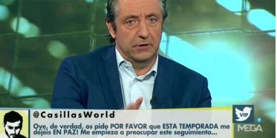 """Iker Casillas acaba a palos en Twitter contra 'El Chiringuito' de Pedrerol: """"Os pido que me dejéis en paz"""""""