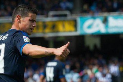Pesos pesados del Madrid aconsejan a James sobre su futuro