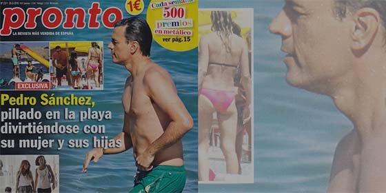 La revista 'Pronto' caza a Pedro Sánchez pasándolo en grande en la playa