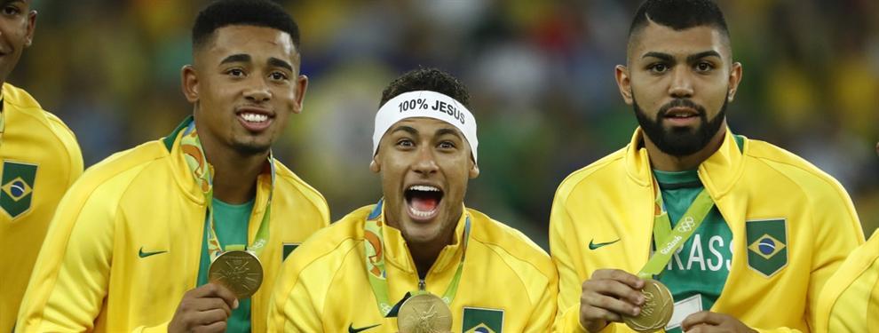Salen a la luz unas polémicas imágenes de la celebración del oro de Neymar