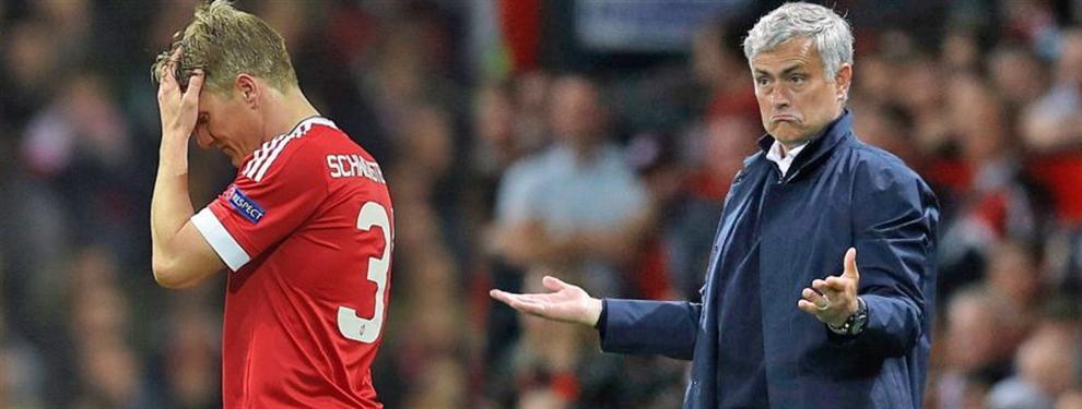 Top Secret: José Mourinho se ha puesto furioso con Schweinsteiger