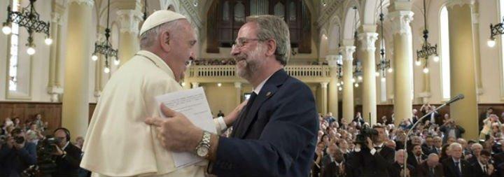 """Francisco llama a la """"plena comunión"""" con los evangélicos valdenses y metodistas"""