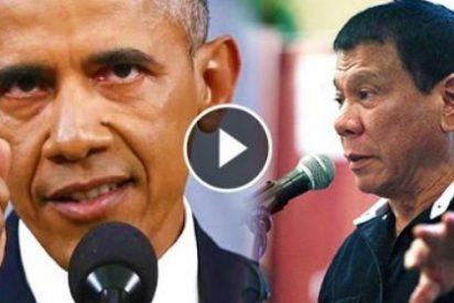[VÍDEO] Así llama hijo de puta a Obama el sangriento presidente filipino