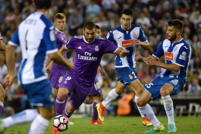 El Real Madrid gana al RCD Espanyol y es líder en solitario de la Liga