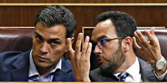 """Pedro Sánchez: """"Felipe González está en el bando de la abstención; me gustaría saber en cuál está Susana Díaz"""""""