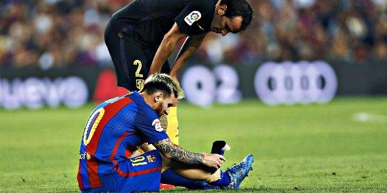 Leo Messi, tres semanas de baja por una rotura en el aductor del muslo derecho