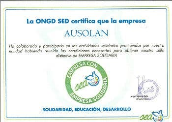 "SED acredita a Ausolan como ""empresa solidaria"""