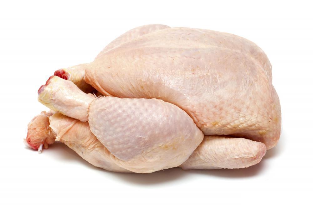 un pollo limpio para cocinar