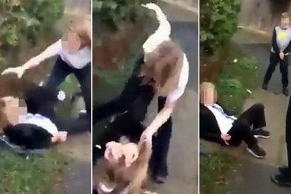 Violencia escolar: una niña de 15 años machaca a otra de 13 mientras el resto aplaude y anima
