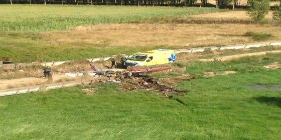 Dos fallecidos al estrellarse una avioneta en Villanueva del Condado (León)