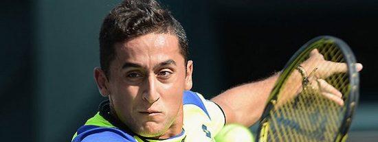 El tenista español Nicolás Almagro no puede con un gran Monfils