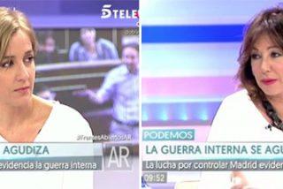 """El terrible revolcón de Ana Rosa a Tania Sánchez: """"La guerra en Podemos no es un invento de la prensa"""""""