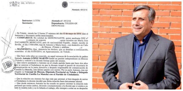 Ciudadanos mantiene en su puesto a un concejal de C-LM denunciado por acoso laboral