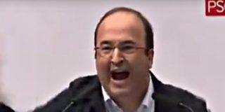 """Un enloquecido Miquel Iceta a Pedro Sánchez: """"Líbranos de Rajoy y del PP"""""""