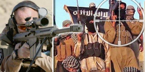 El francotirador británico mata a 4 cuatro bestias del ISIS de un disparo... y salva a 12 rehenes de ser quemados