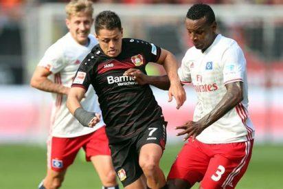 Chicharito da asistencia en su regreso con el Leverkusen