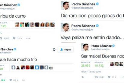 """Las involuntarias (y celebradas) predicciones de Pedro Sánchez en Twitter: del """"a casa que ya es hora"""" al """"vaya paliza que me están dando"""""""