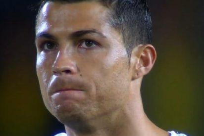 El compañero con el que ahogó las penas Cristiano Ronaldo al final del partido