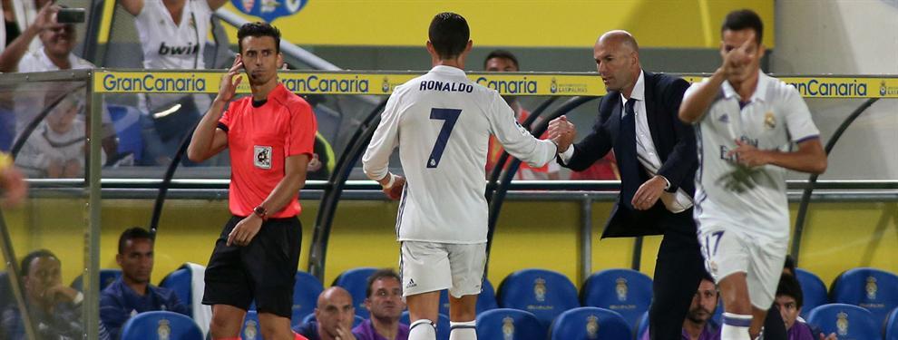 El enfado de Cristiano con Zidane se trasladó también al vestuario