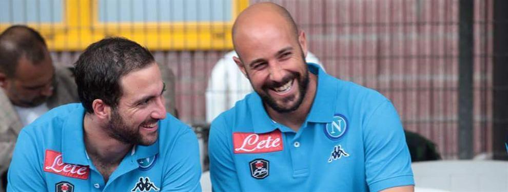 El insulto de Pepe Reina a Gonzalo Higuaín por fugarse del Nápoles