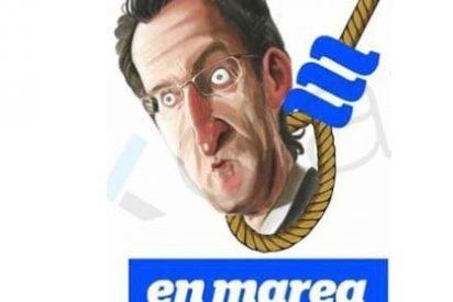 Podemos apuesta por 'ahorcar' a Núñez Feijóo como logotipo para las elecciones gallegas