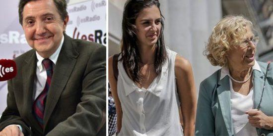 """Losantos se chotea de la emisora municipal de Carmena: """"Nace 'Radio Gagá', para que la alcaldesa y Rita Maestre se hagan famosas"""""""