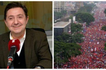 """Jiménez Losantos: """"Los mercenarios podemitas han recurrido a fotos antiguas para responder al éxito de la manifestación contra Maduro"""""""