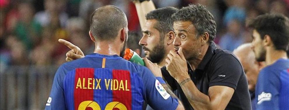 Luis Enrique juega al despiste (en público) con Aleix Vidal