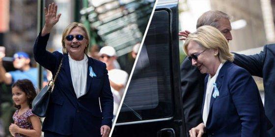 [VÍDEO] El misterioso objeto metálico que se le cae a Hillary Clinton al desmayarse