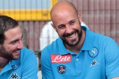 Pepe Reina insultó a Gonzalo Higuaín por dejar Napoli e ir a Juventus