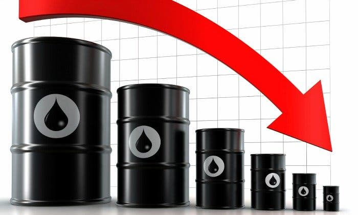 El petróleo se desploma un 6% en la semana: el Texas cierra en 43 dólares