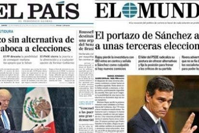 El País y El Mundo aterrizan en los quioscos con una portada casi calcada