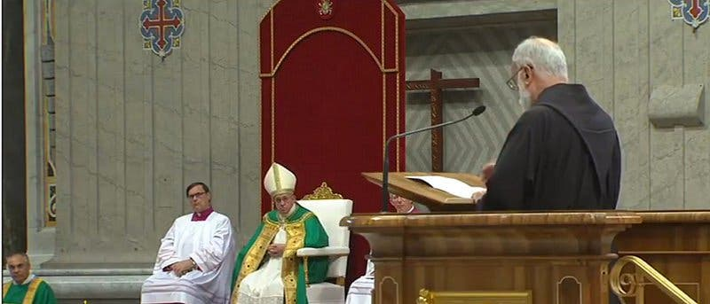 """Padre Cantalamessa: """"Somos imagen de la imagen de Dios"""""""