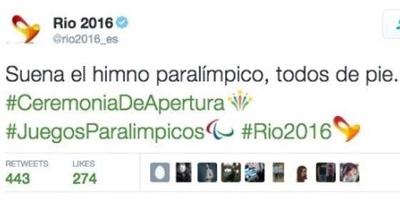 ¡Qué manera de liarla parda! La cuenta oficial de los Paralímpicos, obligada a borrar un desafortunado tuit