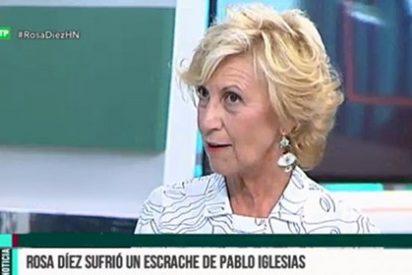 """Rosa Díez recuerda el infame escrache de Iglesias con un dardo: """"Se sorprendía de que no le bajara la mirada... ¡Yo he hecho política en Euskadi!"""""""