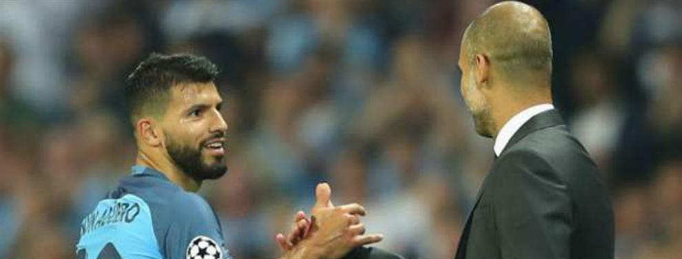 Sergio Agüero pone su futuro en manos de Pep Guardiola