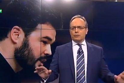"""Urdaci pone a caldo a Rufián: """"Es un cretino en dos lenguas a la vez"""""""