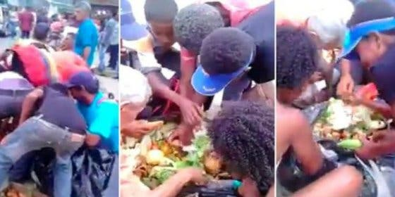 El dramático vídeo de los niños venezolanos que rebuscan en la basura para comer